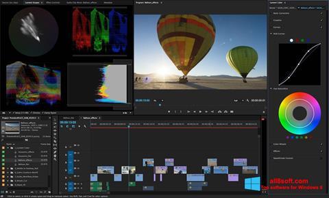 Snimak zaslona Adobe Premiere Pro Windows 8