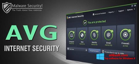 Snimak zaslona AVG Internet Security Windows 8