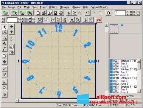 Snimak zaslona Embird Windows 8