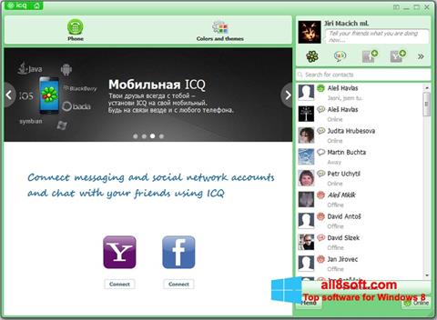 Snimak zaslona ICQ Windows 8
