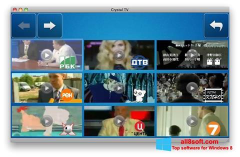 Snimak zaslona Crystal TV Windows 8