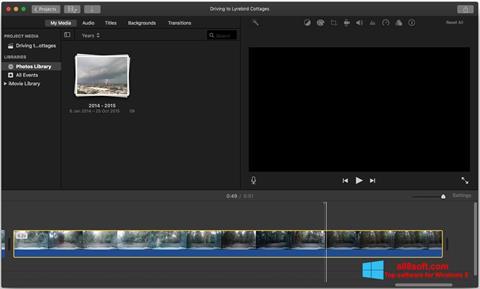 Snimak zaslona iMovie Windows 8