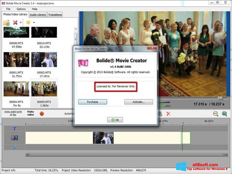 Snimak zaslona Bolide Movie Creator Windows 8
