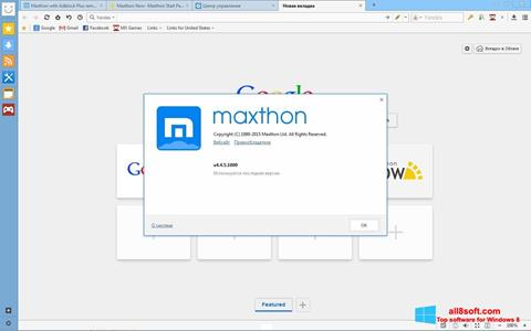 Snimak zaslona Maxthon Windows 8