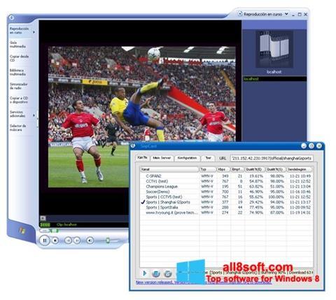 Snimak zaslona SopCast Windows 8