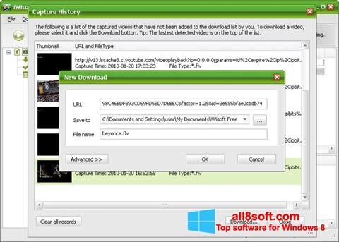 Snimak zaslona Free Video Catcher Windows 8