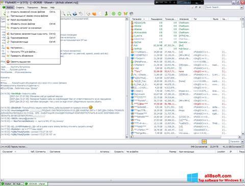 Snimak zaslona FlylinkDC++ Windows 8