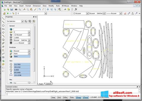 Snimak zaslona DraftSight Windows 8