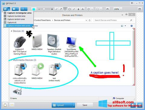 Snimak zaslona QIP Shot Windows 8