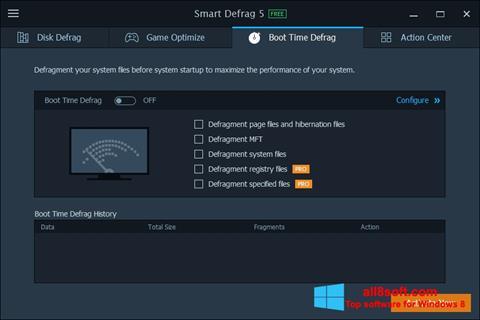 Snimak zaslona Smart Defrag Windows 8