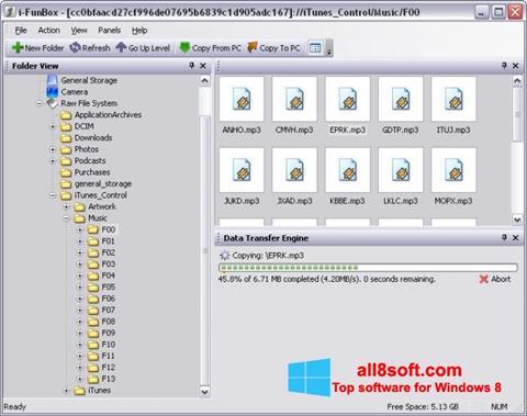 Snimak zaslona iFunBox Windows 8