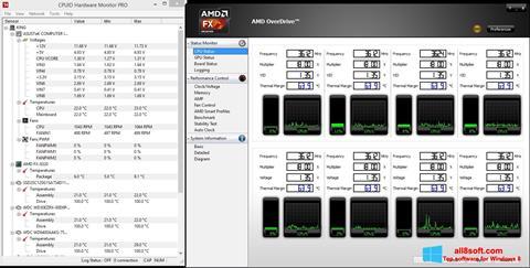 Snimak zaslona AMD Overdrive Windows 8
