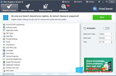 Snimak zaslona Wise Registry Cleaner Windows 8