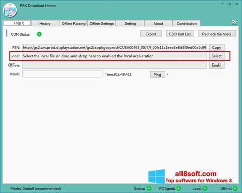 Snimak zaslona DownloadHelper Windows 8