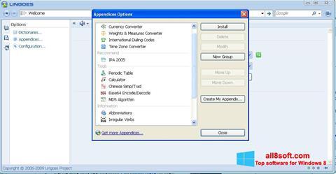 Snimak zaslona Lingoes Windows 8