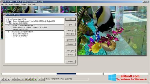 Snimak zaslona VirtualDubMod Windows 8