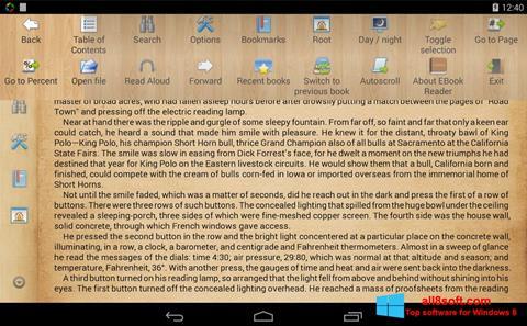 Snimak zaslona Cool Reader Windows 8
