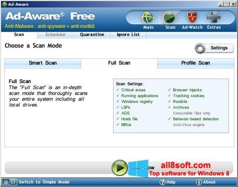 Snimak zaslona Ad-Aware Free Windows 8