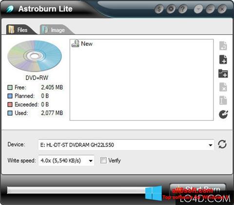 Snimak zaslona Astroburn Lite Windows 8