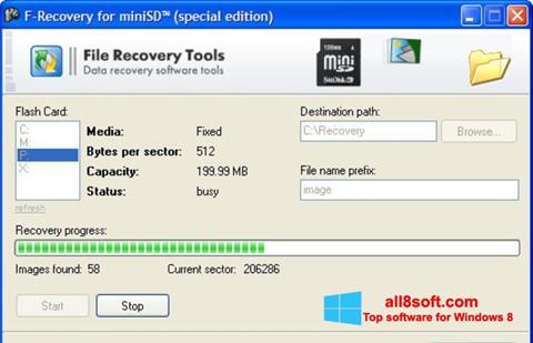 Snimak zaslona F-Recovery SD Windows 8