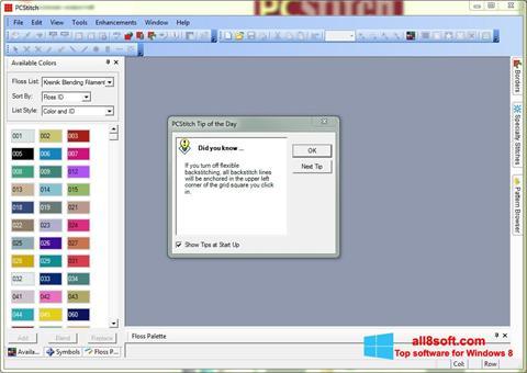 Snimak zaslona PCStitch Windows 8