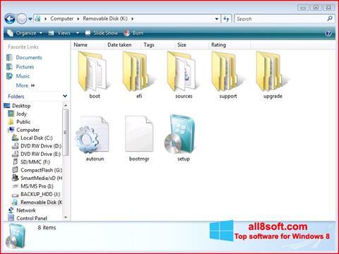 Snimak zaslona Windows 7 USB DVD Download Tool Windows 8