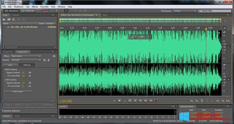 Snimak zaslona Adobe Audition Windows 8