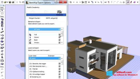 Snimak zaslona ArchiCAD Windows 8