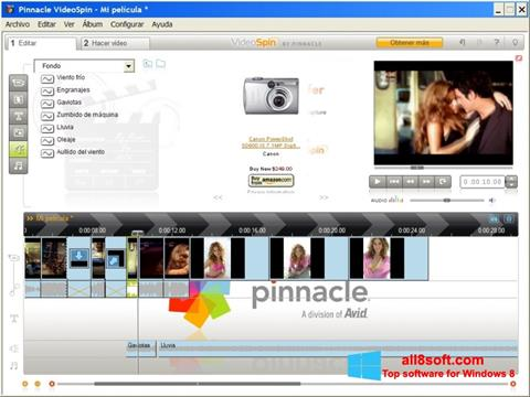 Snimak zaslona Pinnacle VideoSpin Windows 8