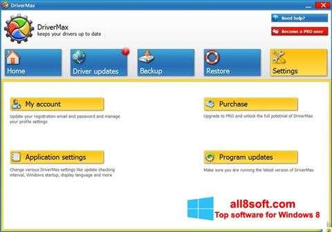 Snimak zaslona DriverMax Windows 8