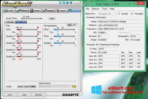 Snimak zaslona EasyTune Windows 8