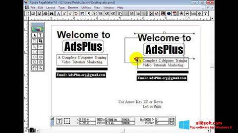 Snimak zaslona Adobe PageMaker Windows 8