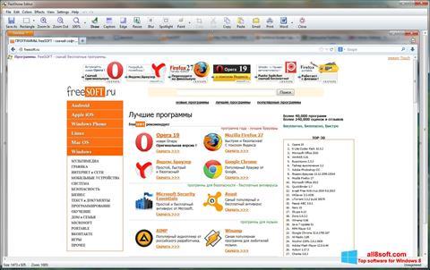 Snimak zaslona FastStone Capture Windows 8