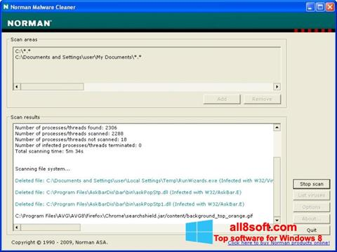 Snimak zaslona Norman Malware Cleaner Windows 8