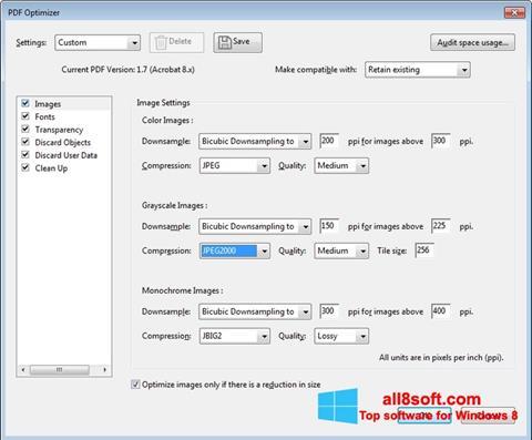 Snimak zaslona Adobe Acrobat Pro DC Windows 8