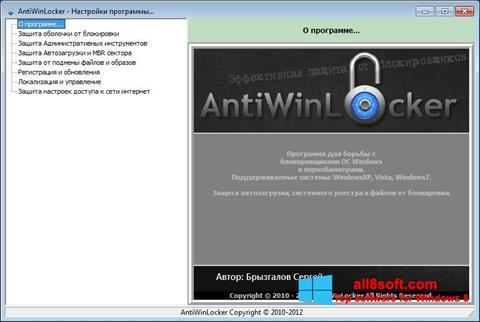Snimak zaslona AntiWinLocker Windows 8