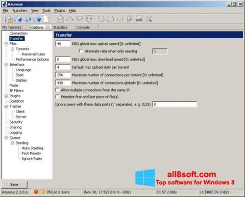 Snimak zaslona Vuze Windows 8