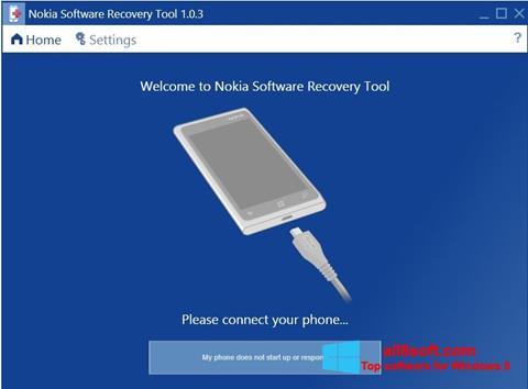 Snimak zaslona Nokia Software Recovery Tool Windows 8