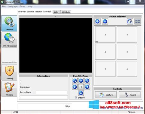 Snimak zaslona webcamXP Windows 8