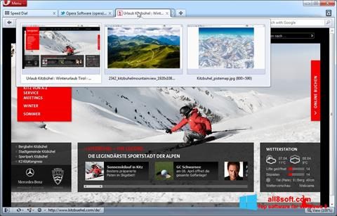 Snimak zaslona Opera Windows 8