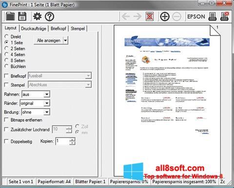 Snimak zaslona FinePrint Windows 8