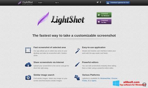 Snimak zaslona LightShot Windows 8