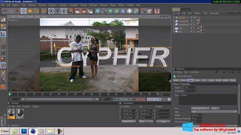Snimak zaslona CINEMA 4D Windows 8