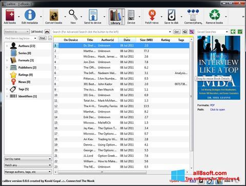 Snimak zaslona Calibre Windows 8