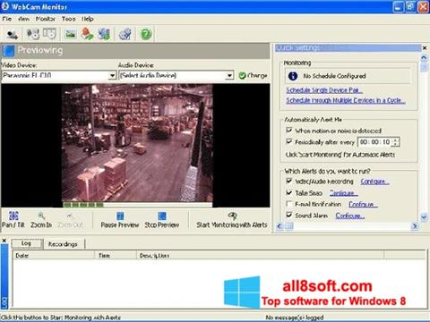 Snimak zaslona WebCam Monitor Windows 8