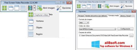 Snimak zaslona Free Screen Video Recorder Windows 8