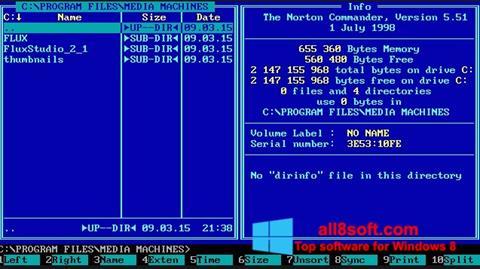 Snimak zaslona Norton Commander Windows 8