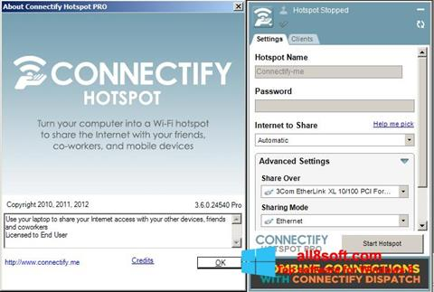 Snimak zaslona Connectify Pro Windows 8
