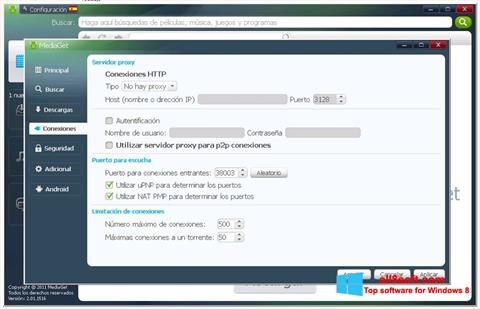 Snimak zaslona MediaGet Windows 8