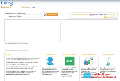 Snimak zaslona Bing Translator Windows 8